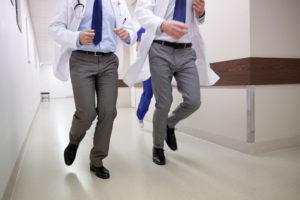Hospitalists Run for Cover as Nurses Heave Barrage of Pages Near Shift Change