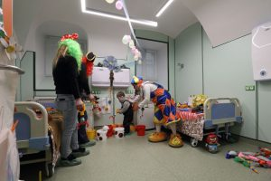 Medical center repurposes hospital clowns to act as clinical exam chaperones