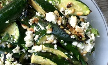 Grilled Zucchini with Feta and Herbs