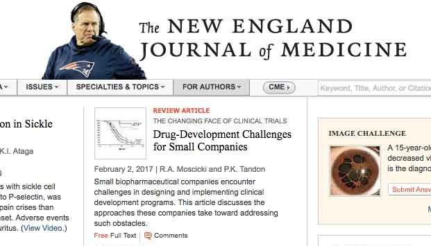 New England Journal Replaces Logo with Pic of Bill Belichick
