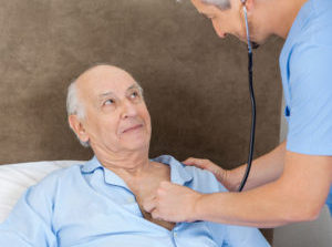 As Nurse Leans In for a Listen, Patient Can Think of No Better Time to Start Coughing Violently