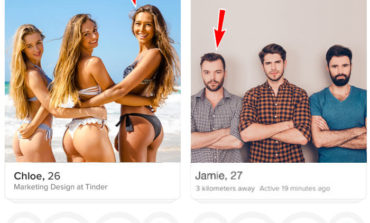 Radiologist Adds Arrow Signs To Group Tinder Photos