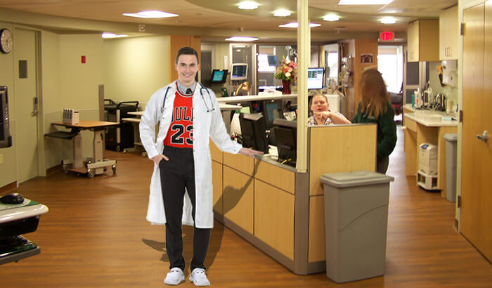 The Michael Jordan of Interns Retires After Curing His 6th Patient