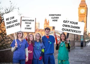 Anesthesia Techs Strike; Anesthesiologists Forced to go get their Own Quarters