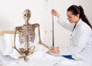 Skeleton Started on IV Fluids, was Bone dry
