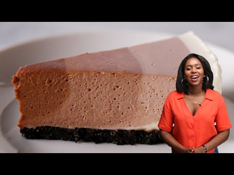 How To Make Ripple Chocolate Cheesecake With Kiano • Tasty