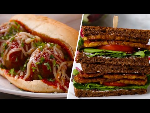 Vegetarian Sandwiches 4 Ways