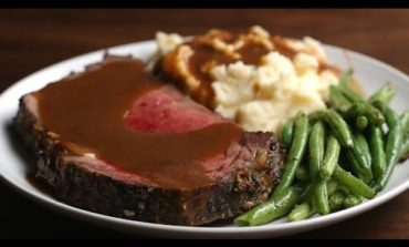 Prime Rib with Garlic Herb Butter