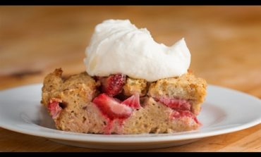 Strawberries & Cream French Toast Bake