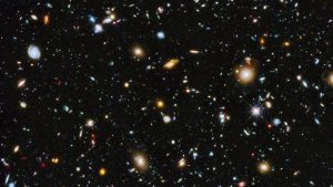 Intern gazes into view of the galaxies in Epic home screen, ponders meaning of life