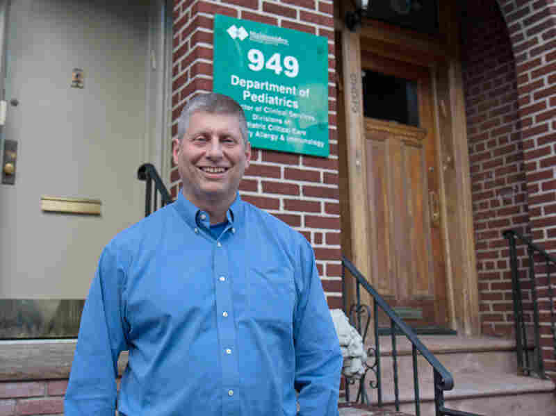 Dr. Joshua Needleman, a specialist in pediatric pulmonology, outside his office in Brooklyn, N.Y.