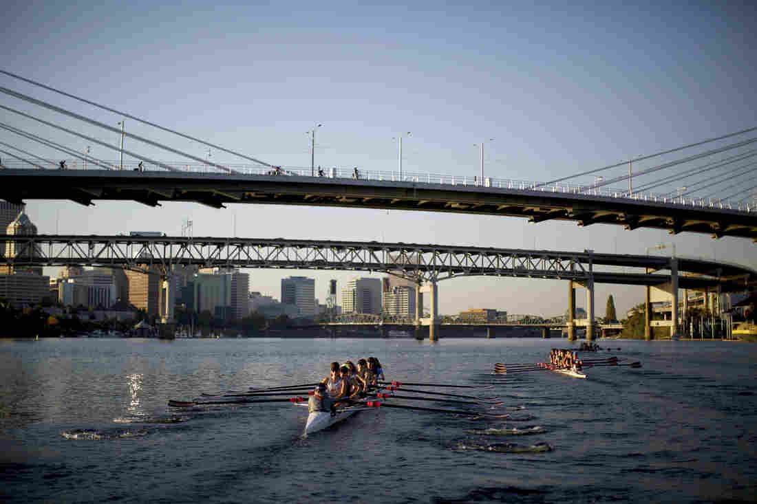 In his hometown of Portland, Oregon, Gilkey photographed a story on rowing.