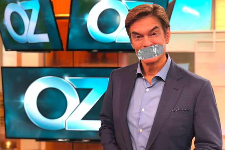 """CDC recommends Dr. Oz wear """"Duct Tape Mask"""" to slow down false information"""
