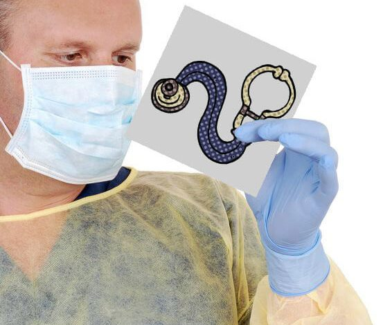 Contact Precautions' Stethoscope will be replaced with drawing of Stethoscope
