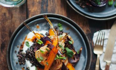 Harissa Carrots and Fennel with Lentils